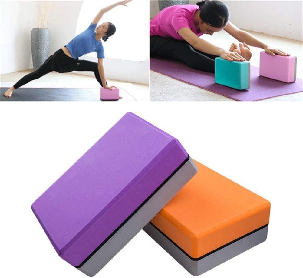 Yoga Bloque Ladrillos Yoga De Espuma Yoga Kit de iniciaci/ón Pilates la Cabeza de Bloque de Yoga Conjunto Bloques de Yoga