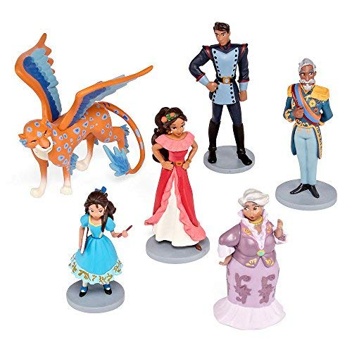 Disney Collection Princess Elena of Avalor 6 Piece Figurine Playset Figure Play Set With Skylar (Elena Of Avalor And Sofia The First)