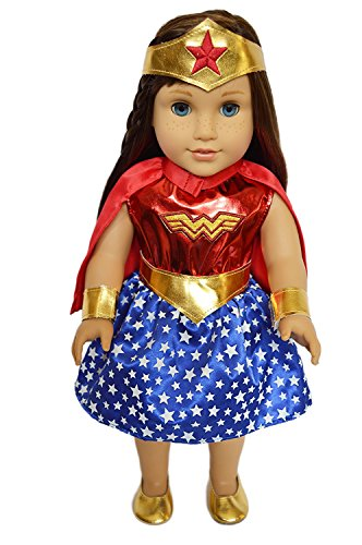 My Brittany's Super Girl Outfit with Shoes for American Girl Dolls-18 Inch Halloween Costume for American Girl (Halloween Costume Doll)