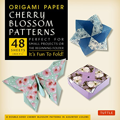 Origami Paper- Cherry Blossom Patterns Large 8 1/4