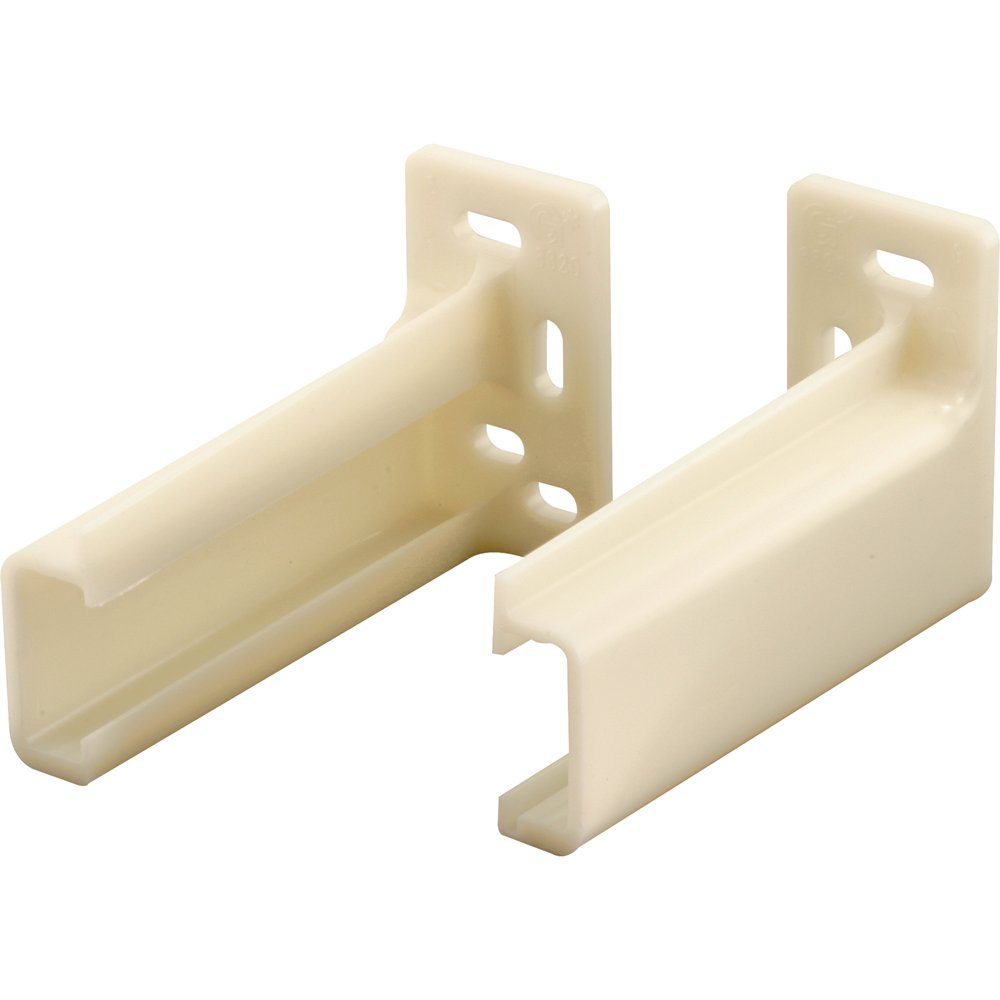 Superieur Prime Line R 7265 Drawer Track Back Plate, 3/8 In. X 1 In., Plastic, White,  1 Pair (1 LH, 1 RH)   Cabinet And Furniture Back Plates   Amazon.com