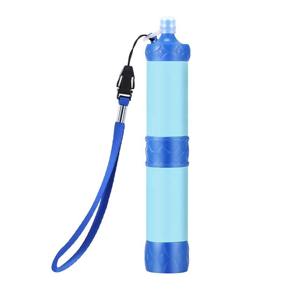 Paille de survie portable Filtration de survie pour boire Randonn/ée Solutions de survie bleu Camping Purificateur dext/érieur Filtre /à eau personnel Motulax Filtre /à eau