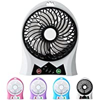 Portable Fan, NINIBER Rechargeable Mini USB Desk Personal Fan with Upgraded 2200mAh Battery,with Internal and Side Light, 3 Speeds, Personal Cooling for Traveling,Boating,Baby Stroller,Fishing,Camping