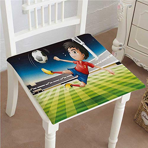 eat Boy Playing Football in The Stadium Athlete Sports Soccer Championship Graphic Multicolor Outdoor Dining Garden Patio Home Kitchen Office 16
