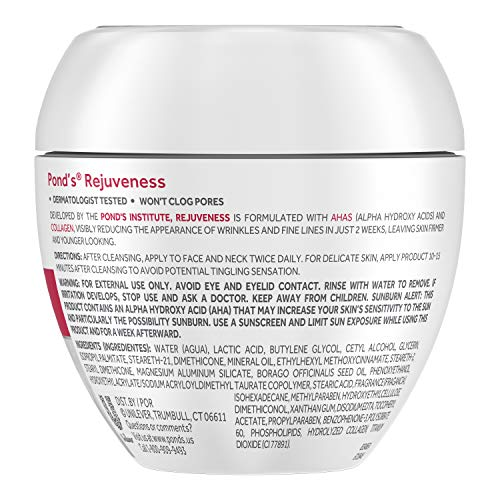 Pond's Rejuveness Anti-Wrinkle Cream Twin Pack, 2 Count (Packaging may vary)