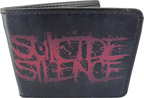 Buckle-Down Men's Wallet Suicide Silence Splatter Gray/red Accessory, -Multi, One Size