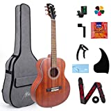 AKLOT Classical Acoustic Guitar, Travel Acoustic Guitar with Classical String 38 inch Mahogany w/Gig Bag Tuner Strap Picks String for Teenager Kids