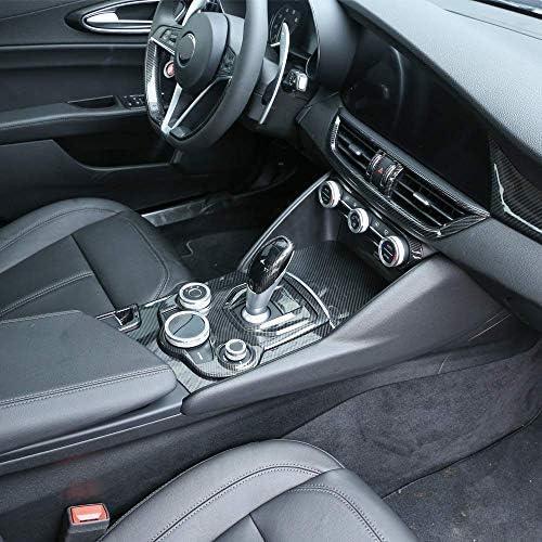 TongSheng Carbon Fiber Style ABS Chrome Center Console Decoration Frame Trim Cover for Alfa Romeo Giulia Stelvio 2016-2018
