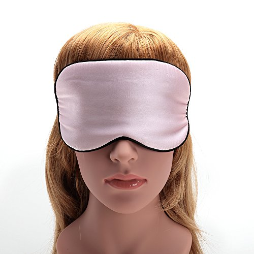 USCAMEL Tranquility 100% Silk Sleep Mask - Very Lightweight and Comfortable - Perfect for Travel and Sleeping - Pink by USCAMEL (Image #6)