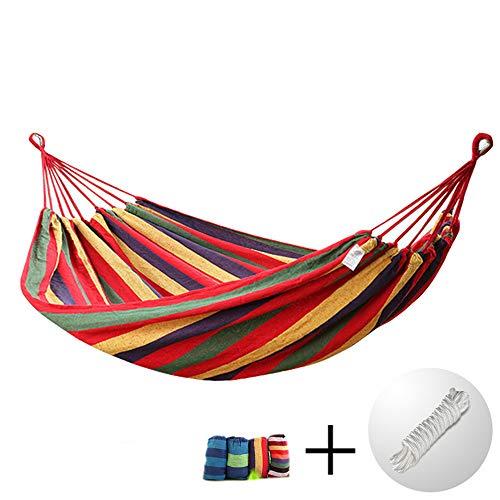 Camping Hammock LIUSIYU Hamaca para Acampar al Aire Libre Capacidad de Carga de hasta 300kg Lona de Viaje de Playa portátil...