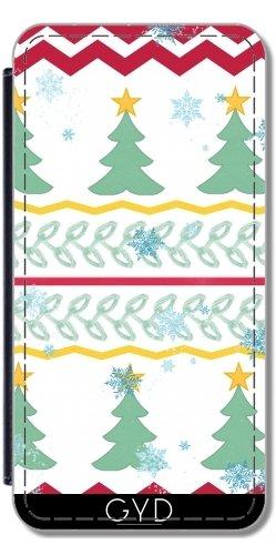 Leder Flip Case Tasche Hülle für Apple Iphone 7 Plus / 8 Plus - Weihnachts-Design by LoRo-Design