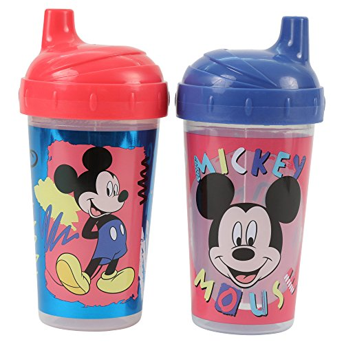 Disney Mickey Mouse Hard Spout Sippy Cups, Multi, 2 Count