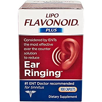 Lipo-Flavonoid Plus Ear Health Supplement | Most Effective Over the Counter Solution to Reduce Ear Ringing| #1 ENT Doctor Recommended for Tinnitus | 100 Caplets | Packaging May Vary