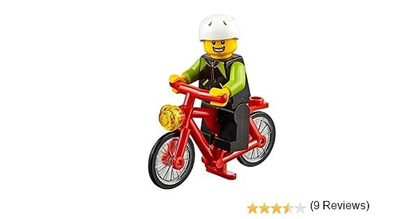 LEGO City Minifigure: Ciclista con Bicicleta (Chaqueta Lima y ...