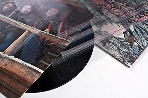 ClearBags 12 x 12 Clear Record Sleeves for 12 Inch Vinyl Record Albums | Adhesive Strip on Bag, Not Flap | Poly Vinyl Outer Sleeve Protects from Wear, Scratch, Dust | BLP1 Pack of 100