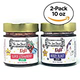 Kids Super Strawberry Jam, 10 oz. and Berry Blast, by The Jam Stand (Pack of 2)