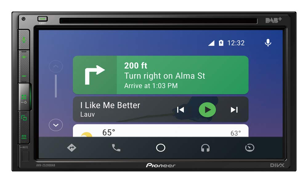 Radio Dab+ 2-DIN Pioneer 1025870 Autorradio Multimedia AVH-Z5200DAB 6.8