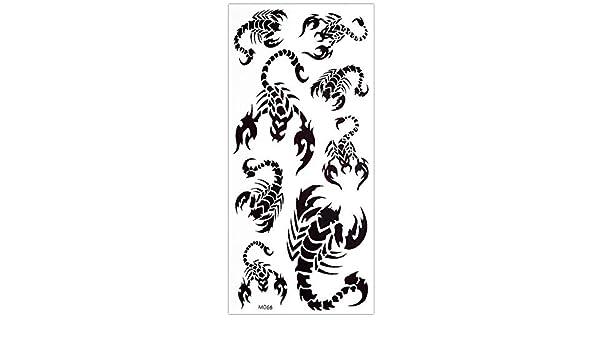 Escorpión Tatuajes Negro Fake Tattoo 10 Escorpión en un arco ...