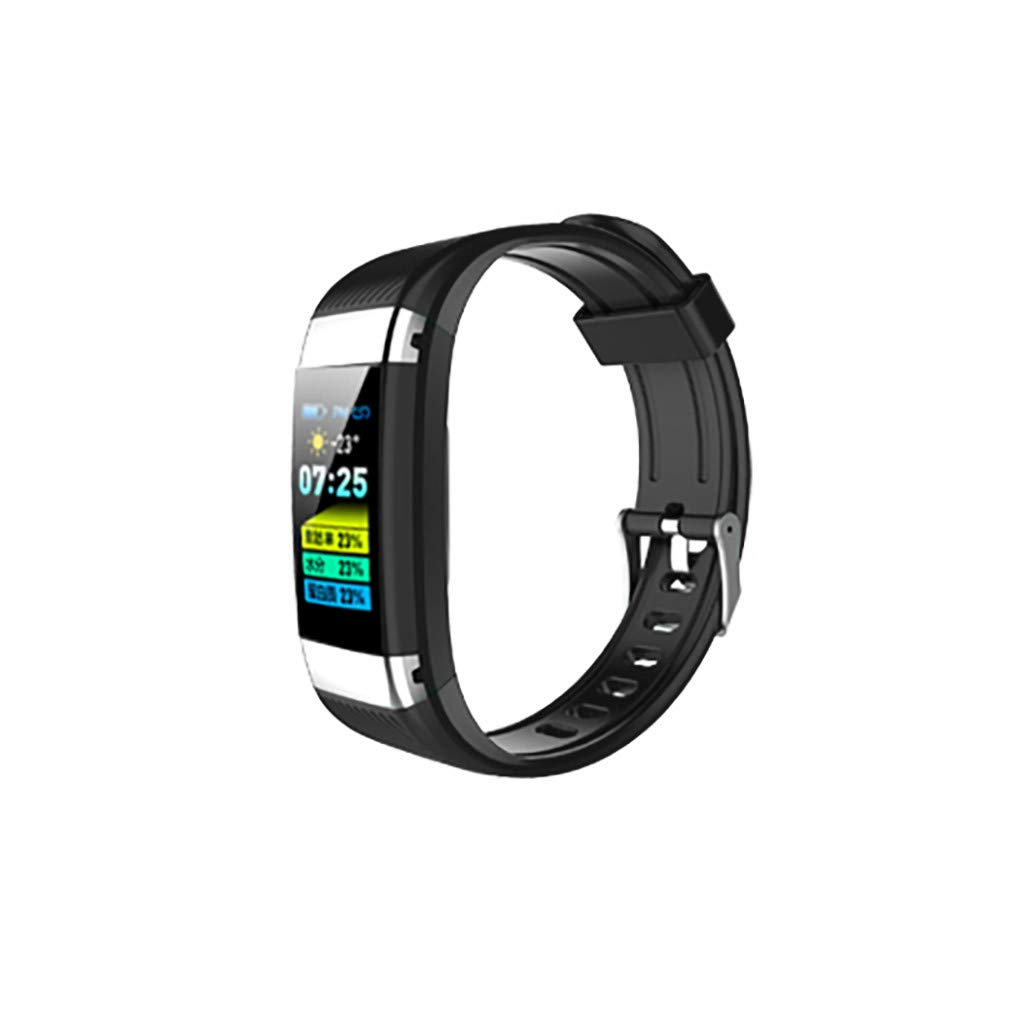 Highpot Fitness Tracker Smart Bracelet, Smart Activity Bracelet with Dynamic Blood Pressure and Heart Rate Monitor, IP67 Waterproof, Body Fat, Calorie Counter, Pedometer Watch (Black)