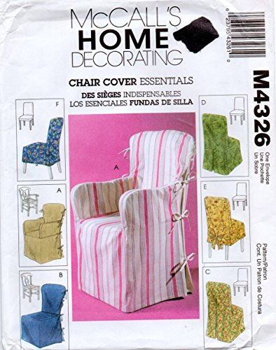 McCalls 4326 Home Decorating Chair Covers Essentials Sewing Pattern