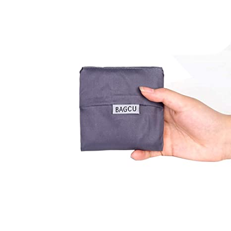 Hilai Ultramarinos Reutilizable Bolsas de Asas del ultramarinos Plegables en Attached Bolsa Reutilizable Bolsas de la Compra (Gris) 1 PC