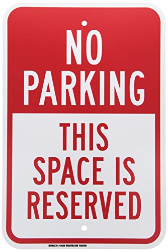 Parking Sign Red (Brady Traffic Control Sign,