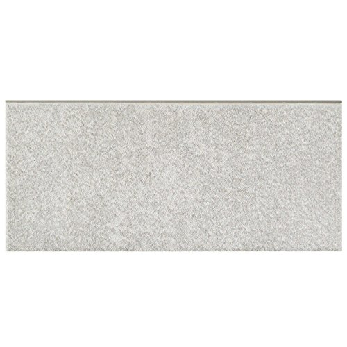 SomerTile FRC8TWGB Fifties Ceramic Bullnose Floor and Wall Trim Tile, 3.5'' x 7.75'', Grey by SOMERTILE