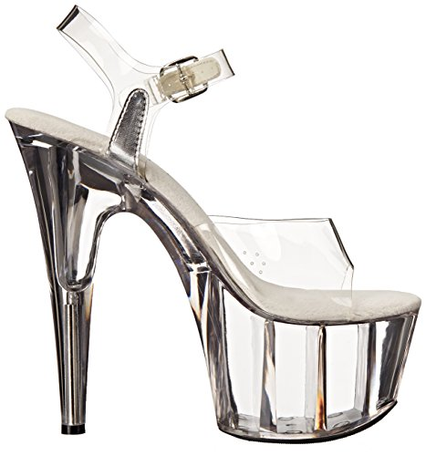 Ellie Shoes Women's 709 Brook Platform Sandal Clear kjpKC
