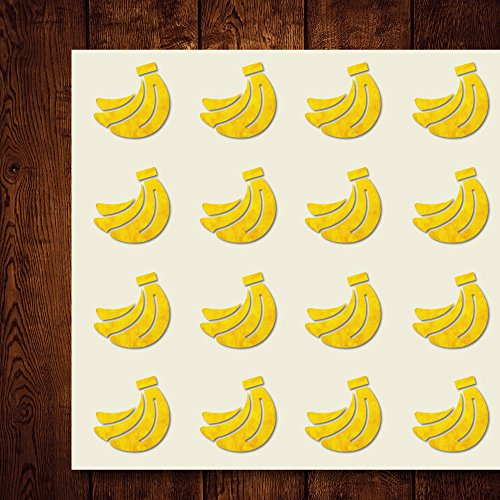 - Banana Food Fruits Fruit Craft Stickers, 44 Stickers at 1.5 Inches, Great Shapes for Scrapbook, Party, Seals, DIY Projects, Item 652638