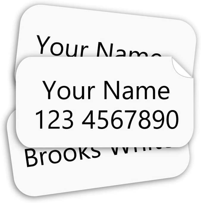 Stick on Clothing Labels, Stick-n-Wear Labels Personalized with Your Name! (60)