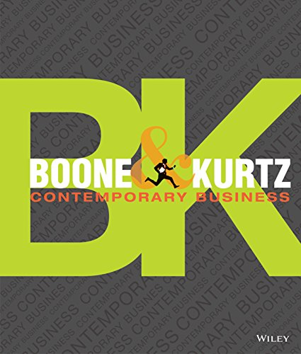 Contemporary Business, 16th Edition (Contemporary Business 16th Edition By Boone And Kurtz)