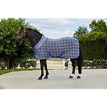 Weatherbeeta Fleece Cooler Standard Neck Turnout Blanket 78 Grey Plaid