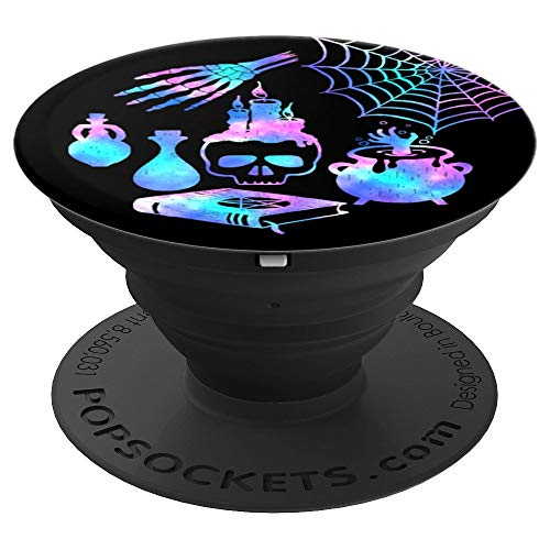 Halloween Spooky Witchcraft Pastel Goth Potions Spells Skull - PopSockets Grip and Stand for Phones and Tablets]()
