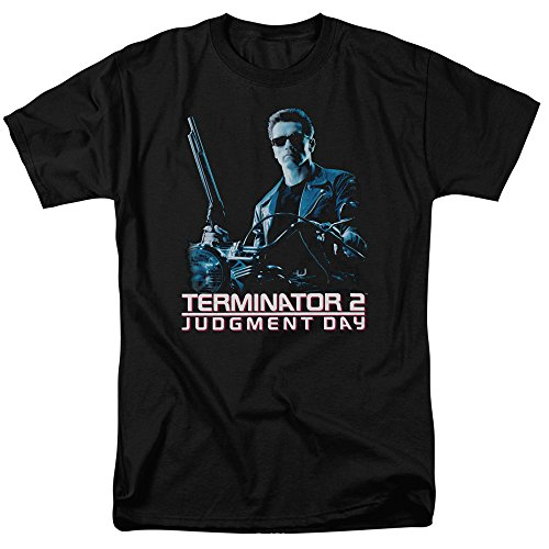 Terminator 2 - Mens Poster T-Shirt, Size: XXXXX-Large, Color: Black