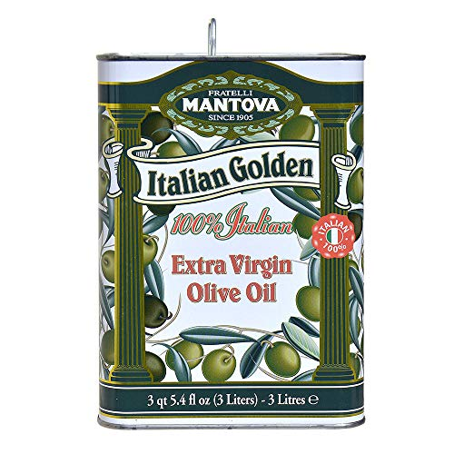 - Mantova Golden Italian Extra Virgin Olive Oil, 102-Ounce Tins (Pack of 2)