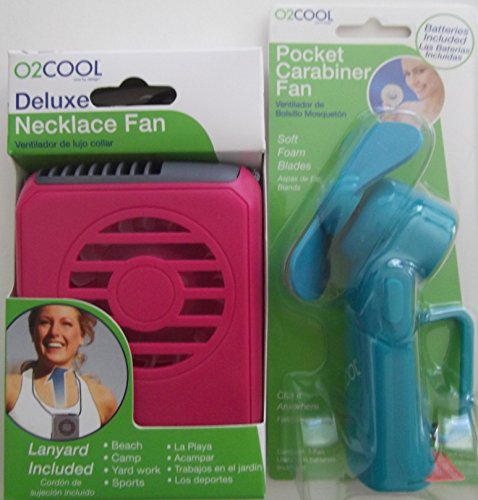 O2 Cool Necklace Fan: O2 Cool Fan, Deluxe Necklace Fan And Pocket Carabiner Fan