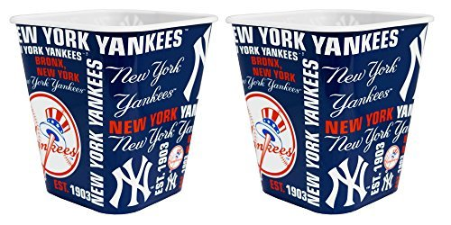 iter Reusable Plastic Snack Bucket 2 Pack (New York Yankees Beer)