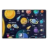 YZGO Solar System Planets - Kids Children Area Rugs Non-Slip Floor Mat Resting Area Doormats