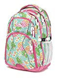 High Sierra Swerve Laptop Backpack, Great for High School, College Backpack, School Bag, Business Backpack, Travel Pack, Laptop Sleeve, Perfect for Men and Women, Pineapple Party/Pink Lemonade/White