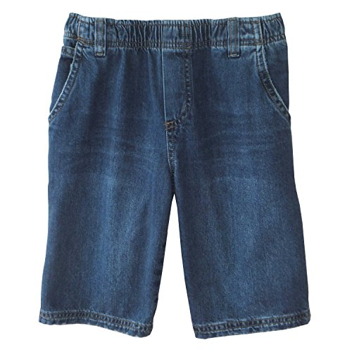 Carpenter Washed Short - Daniel Jacob Big Boys' Husky Denim Carpenter Shorts Full Elastic (10H, Dark Stonewashed)