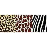Brewster NGB94601 Kenya Multi Animal Print Border Wallpaper