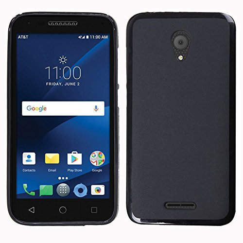 Alcatel IdealXCITE Case, Alcatel Verso Case, Alcatel CameoX 5044R Case, Alcatel Raven LTE A574BL Case, Alcatel U50 5044S Case, Telegaming Slim Soft Silicone Case Anti Slip Shock Absorption Cover Black