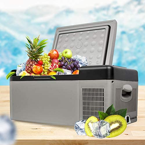 PerPure 12 / 24V DCポータブル冷蔵庫 冷蔵冷凍庫 15L 車載 家庭用 温度調整 -20°Bluetooth制御