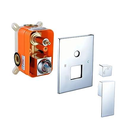 S R SUNRISE Grifo de válvula mezcladora oculta para ducha Cromado SRSH5043 127ac7087cb7