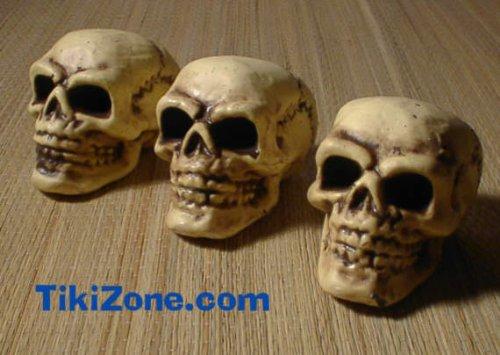 Trio of Mini Skulls - (3 skulls) (Foam Skull)