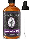 Lavender Essential Oil 4 oz. with Detailed User's Guide (E-book Sent by E-mail) and Glass Dropper by Essentially KateS.
