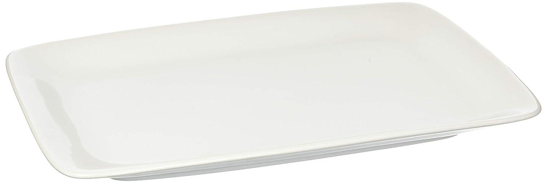 HIC Harold Import Co. 401914 HIC White Porcelain Rectangular Platter, 14-Inch