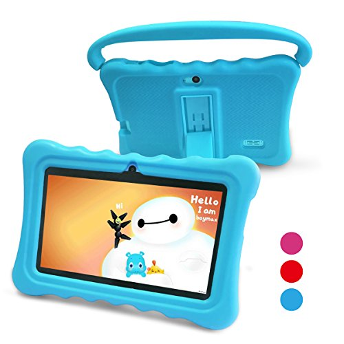 Kids Tablet Kids Pad Tablet - Auto Beyond Tablets for Kids Google Android 5.1 with Handle Silicone Case,Per-installed iWawaHome and AR Zoo APP,IPS Display Screen,8GB ROM,1GB RAM,Wi-Fi,Bluetooth (Blue)