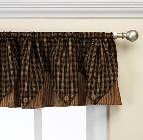 Park Designs Sturbridge Point Valance, 72 x 15, Black