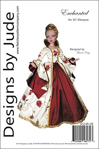 "Enchanted Court Gown Pattern for 16""Ellowyne Wilde Dolls Tonner"